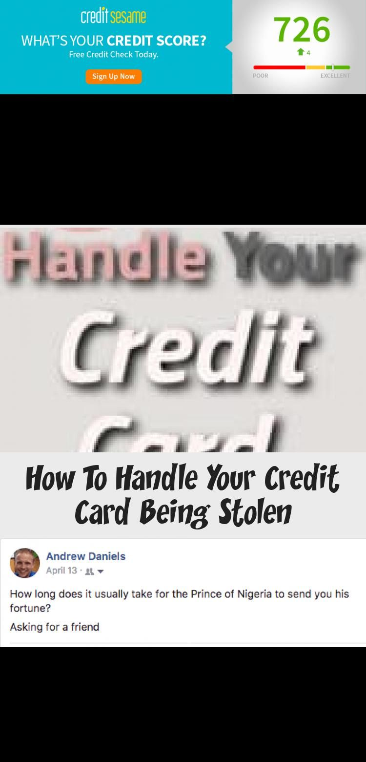 How to handle your credit card being stolen credit