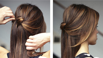 Knot Half Updo Simple Casual Work Hairstyle Hair Diy Tutorial Hair Tutorials Easy Work Hairstyles Cute Everyday Hairstyles