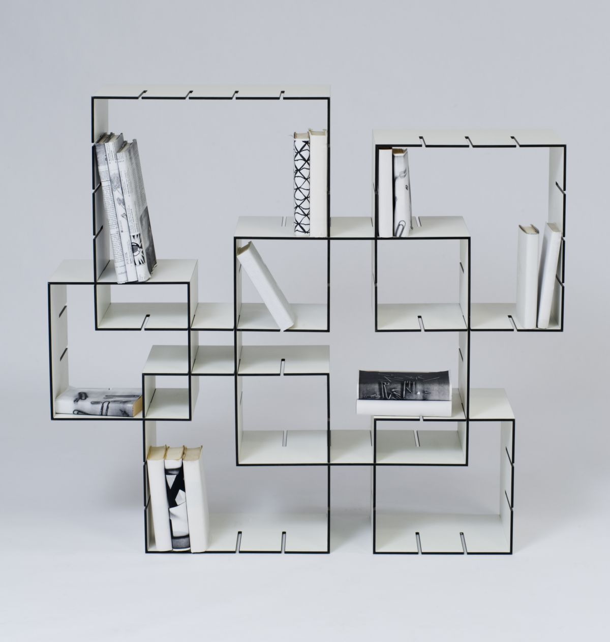 Estanteria Libros Vertical Konnex Shelf Design By Florian Gross Taller Vertical