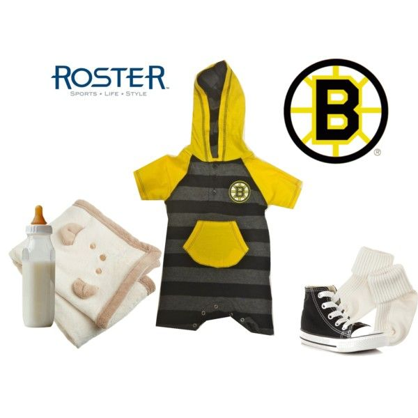 Have everyone in the family support the Bruins this year (even the newest member) in this fantastic baby bruins jumper from Roster!  Bruins Tickle Stripe Hoody $19.99 Sku# 239050 001 2