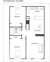 Civil And Architectural Engineering Single Floor Plans 2 Bedrooms Two Bedroom Floor Plan Small House Floor Plans Bedroom Floor Plans