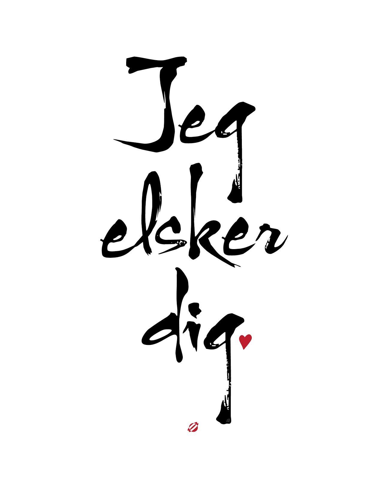 LostBumblebee ©2014 Jeg Elsker Dig- Danish I love you- Free Printable - Personal Use Only