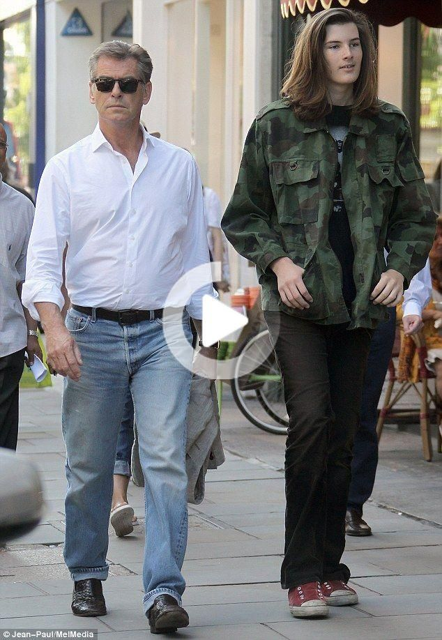 While Pierce is 6ft 1in, his 16-year-old son Dylan is already taller than his famous father. #celebrities