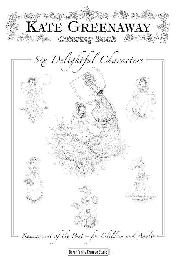 Kate Greenaway Coloring Book by BoyerFamily on Etsy, $9.99 I had ...