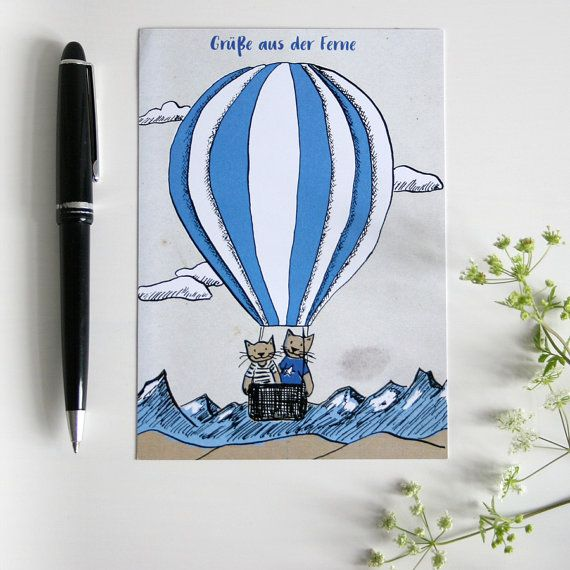 postkarte gr e aus der ferne von katjarub auf etsy my. Black Bedroom Furniture Sets. Home Design Ideas