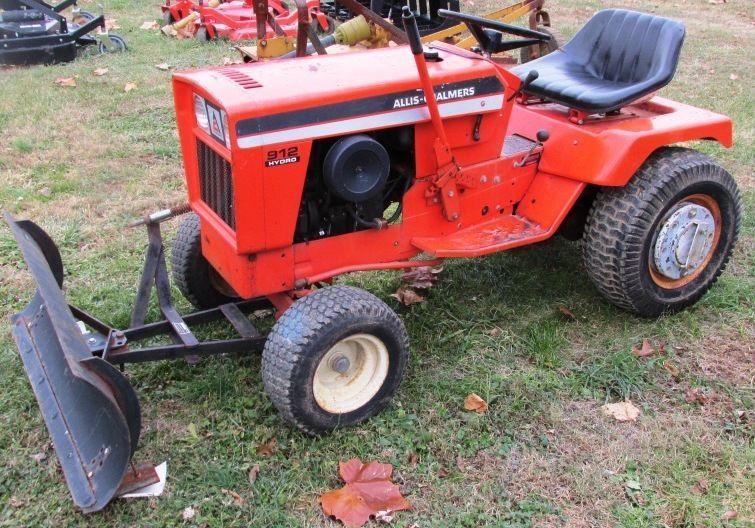 Garden Tractor Snow Plows : Allis chalmers hydro garden tractor w quot snow plow