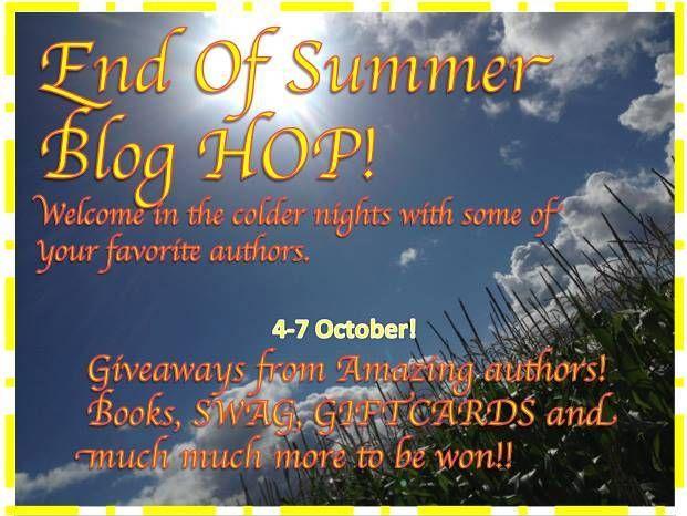 End of Summer Blog Hop 10/4-10/7 @Alexandra Anthony #Books #Giveaways