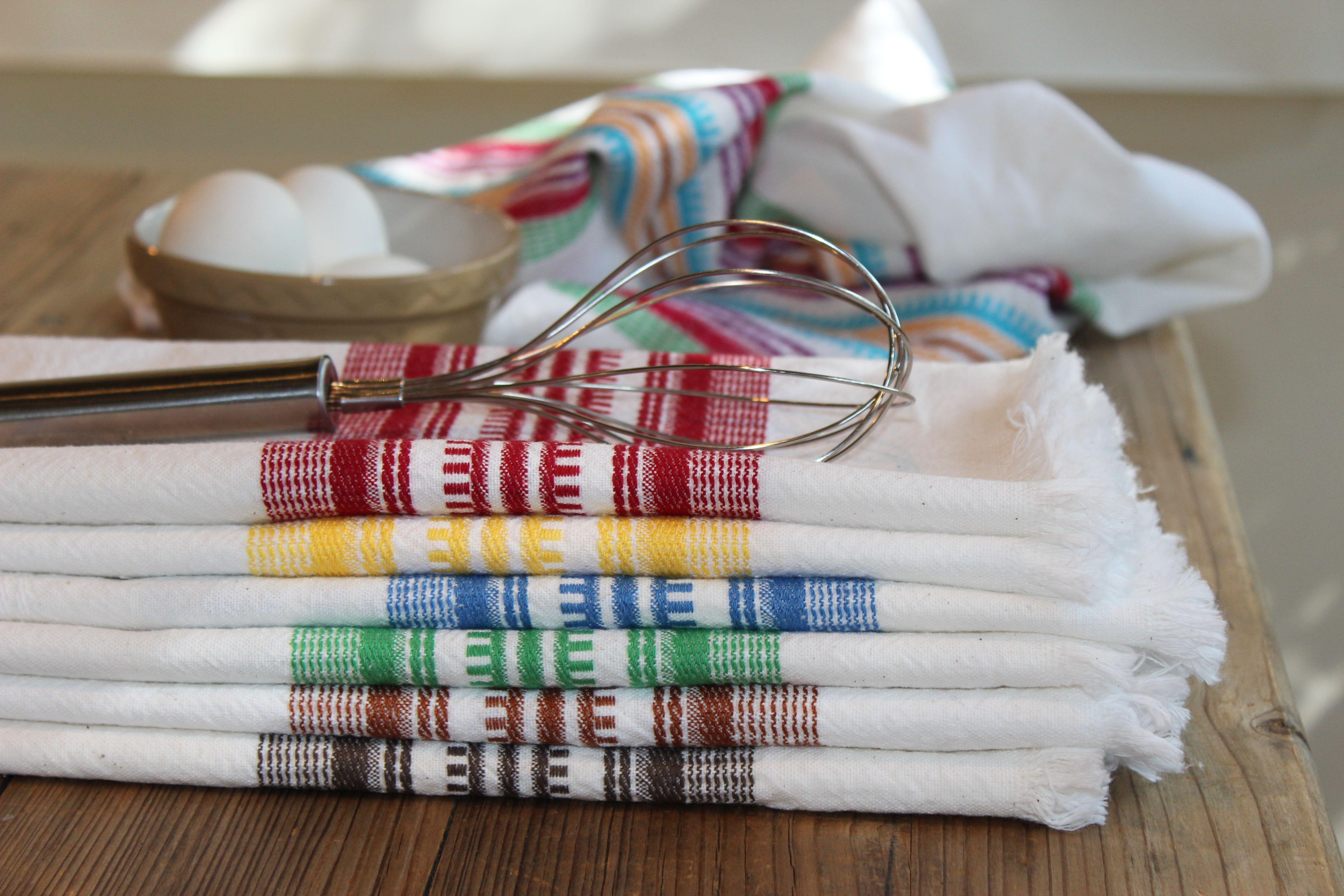 Mimi Robinson Design:  colorful cotton dishtowels handwoven in Guatemala