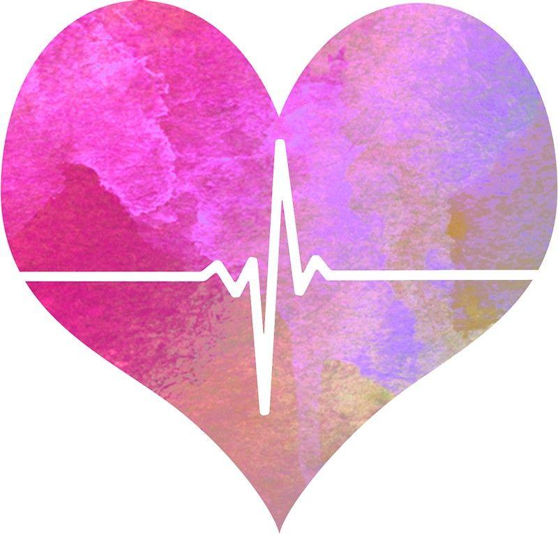 Download 'Watercolor EKG Nurse - Medical Heart' Sticker by Lucile ...