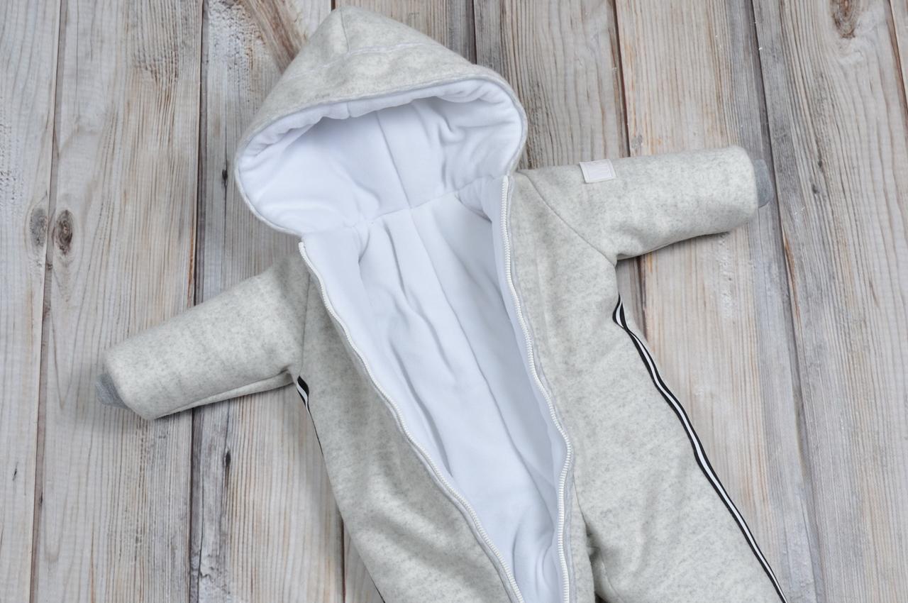 Кашемировый комбинезон детский зимний для новорожденных ...