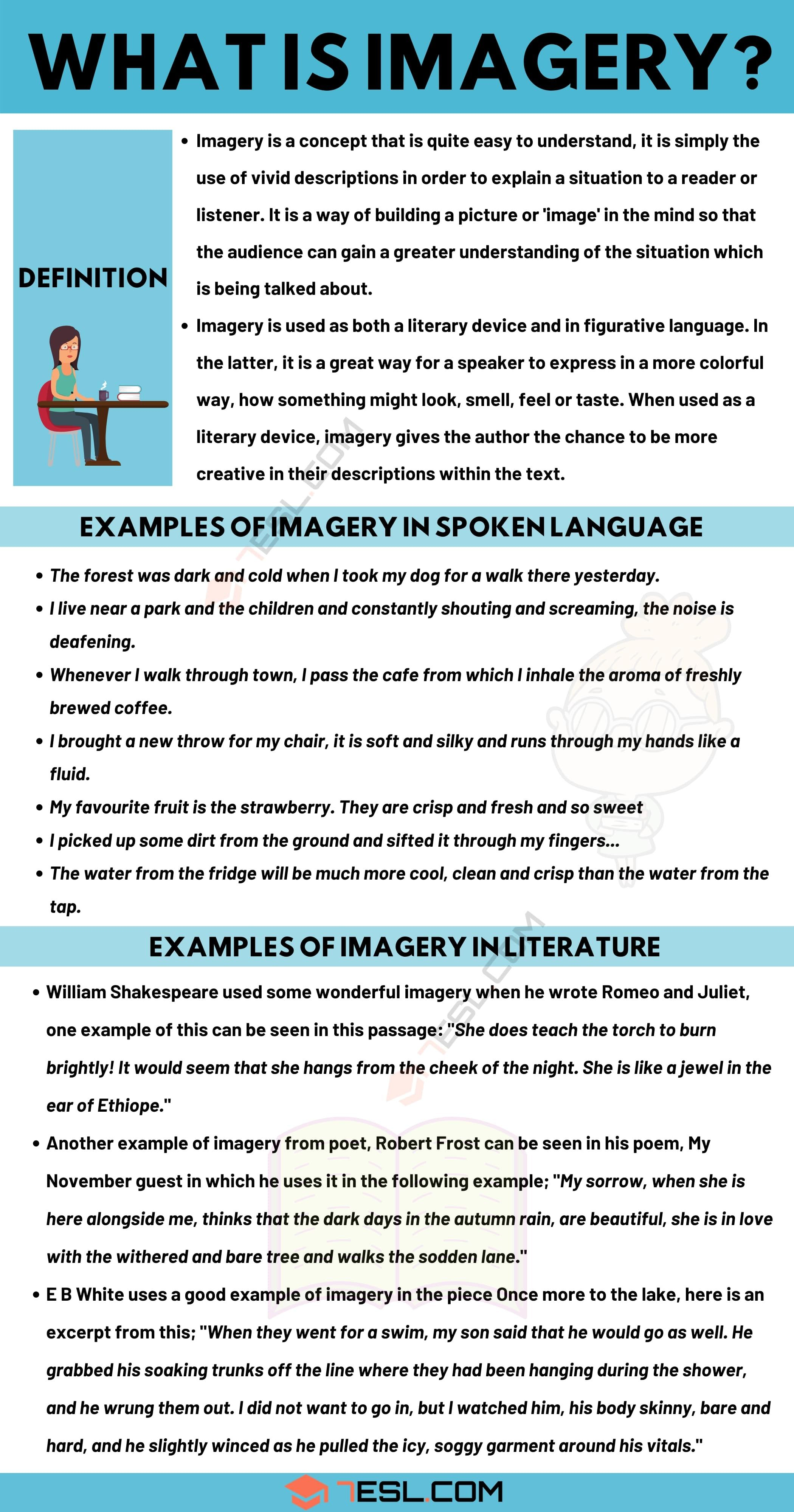 Figurative Language Reference Sheet With Images Poetry Terms