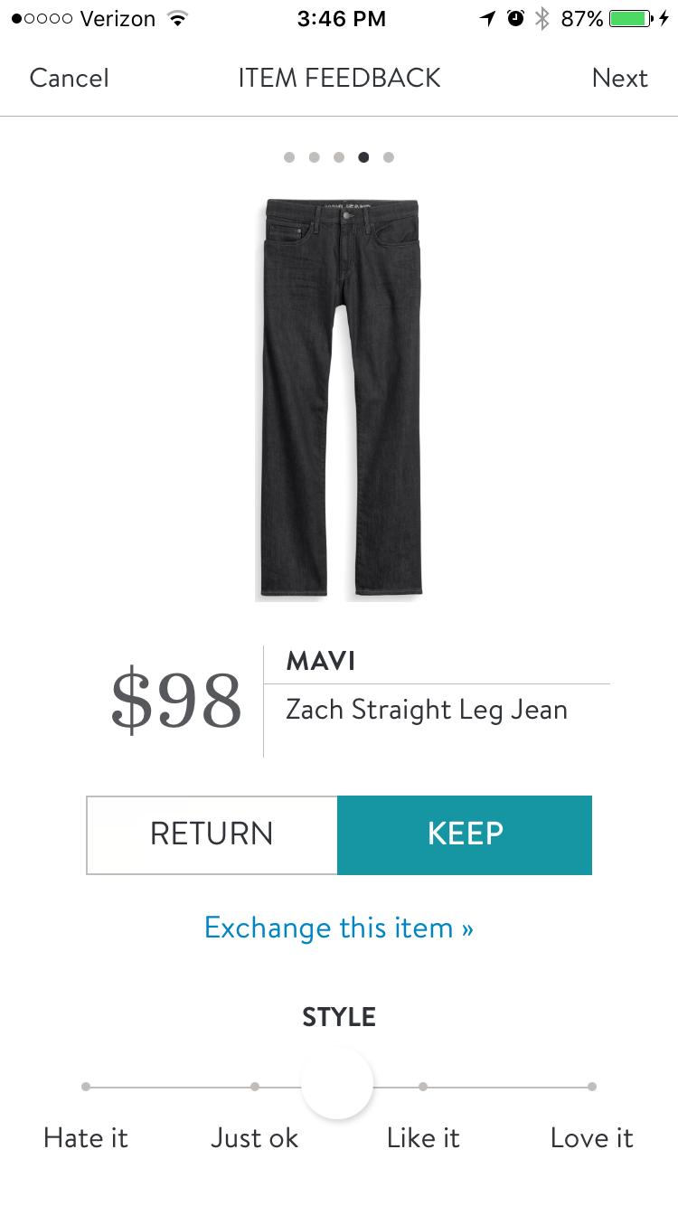 Stitch Fix Men Mavi Zach Straight Leg Jean. These jeans