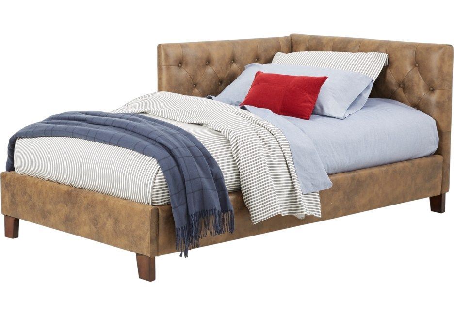 Lucie Brown 4 Pc Twin Corner Bed In 2019 Corner Twin Beds Bed