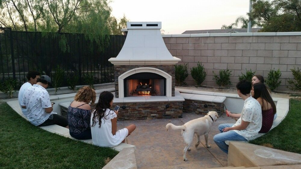 Custom Fireplace Designed By Extreme Backyard Designs Fireplace Outdoorfireplace Outdoor Fireplace Backyard Backyard Design