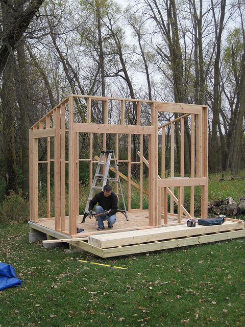 Shed day two four walls splatgirl flickr modern, 10x12 pergola roof plans