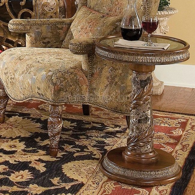 Valencia Carved Wood Traditional Bedroom Furniture Set 209000: Villa Valencia Chair Side Table Aico Furniture