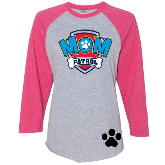 45df3697 Paw Patrol Inspired Birthday Shirt MOM PATROL birthday shirt RAGLAN ...