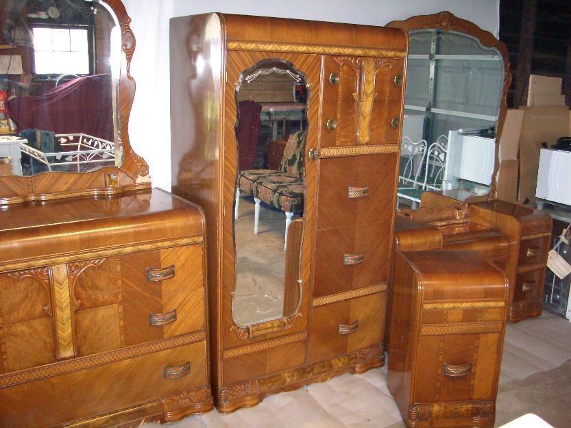 Art Deco Bedroom Furniture, Art Deco Waterfall Bedroom Furniture