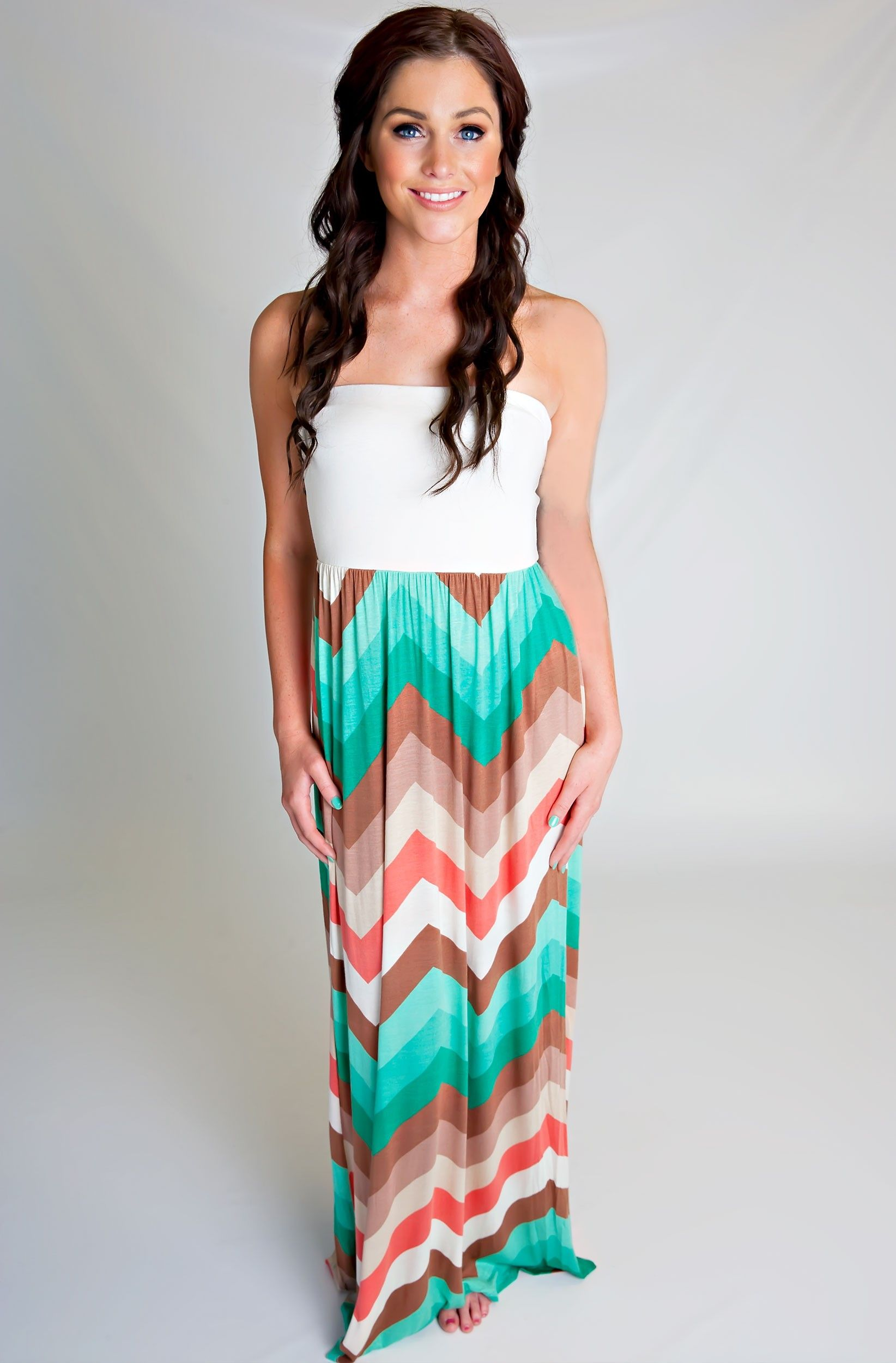 The Caribbean Zigzag Maxi Dress These Are My Favorite Colors Together