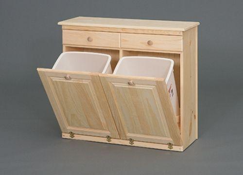 Trash And Recycle Bin Trash Can Cabinet Kitchen Trash Cans Kitchen Furniture Storage
