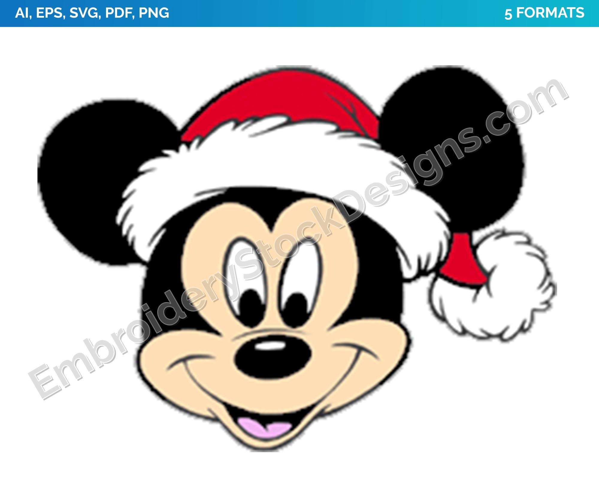 Mickey Mouse Wearing Santa Hat - Mickey Mouse Christmas - Holiday Disney  Character Designs as SVG Vector for Print in 5 formats - DSNYH000579 •  World's largest …   Mickey mouse, Mickey mouse christmas, Character design
