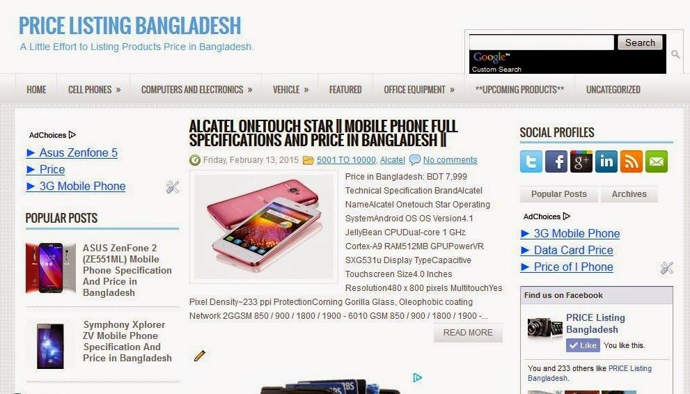 Mobile Phone Tab & Phablet Shops/Showrooms in Bangladesh Address