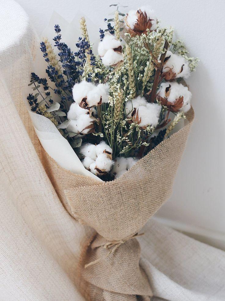 Dried Cotton Lavender Eucalyptus Wheat Flower Bouquet | Singapore – The Magnolia Loft