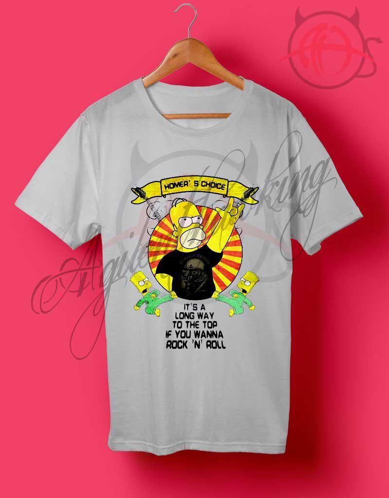 2cc59a3a40 Rock n Roll Homer Simpson T Shirt - Agilenthawking.com | Outfit T ...