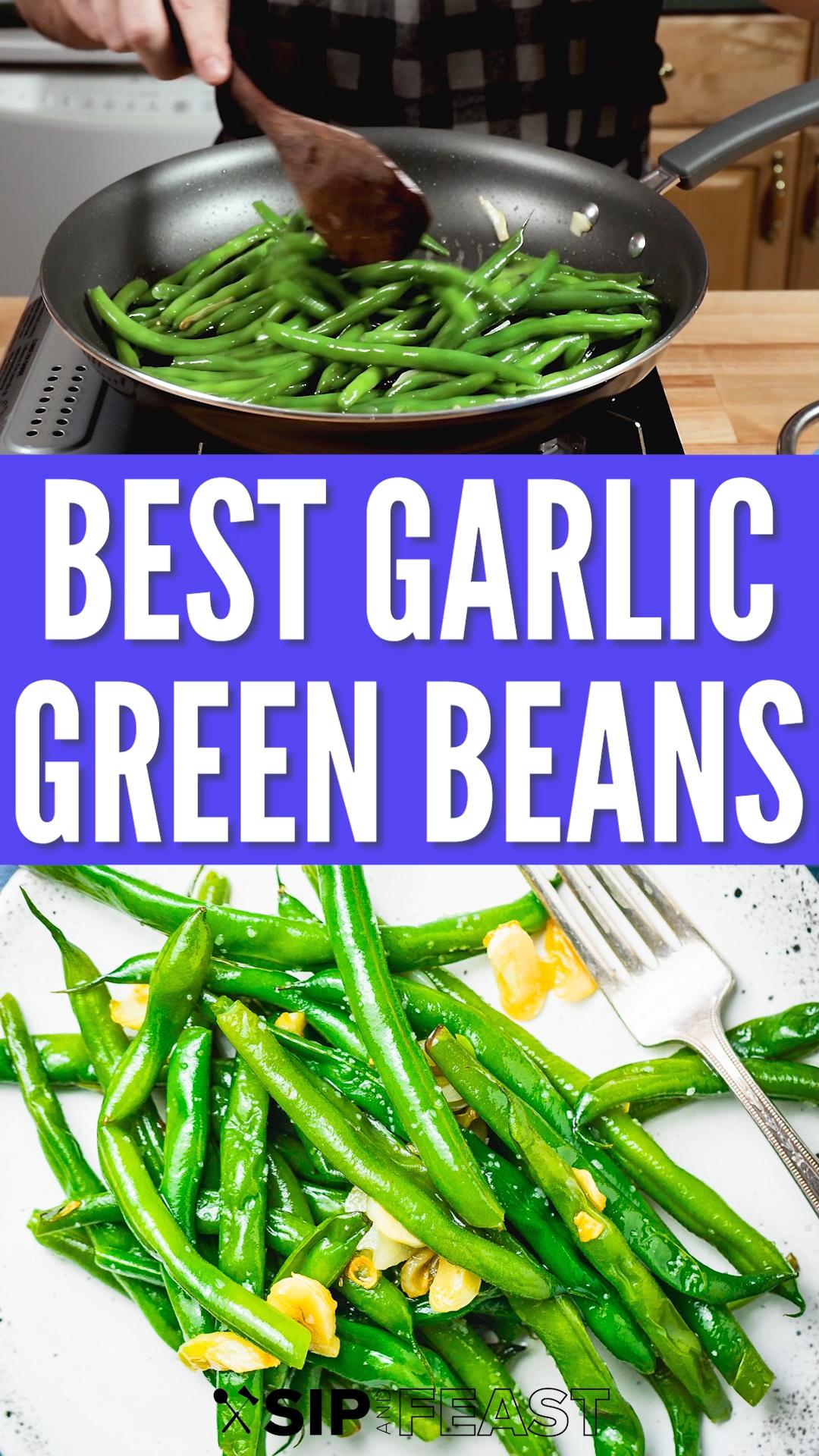 Easy Garlic Green Beans -   19 thanksgiving sides recipes green beans ideas