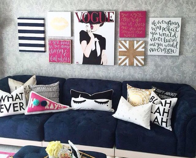 Pin By Sarah Brune On Homie Bright Pillows Girl Bedroom