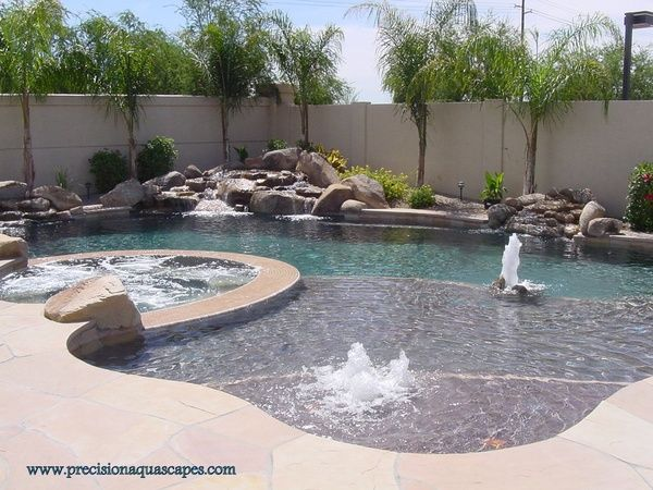 Awesome Pool With Baja Shelf Lagoon Style Swimming Pools Backyard Pool Landscaping Swimming Pool Pictures