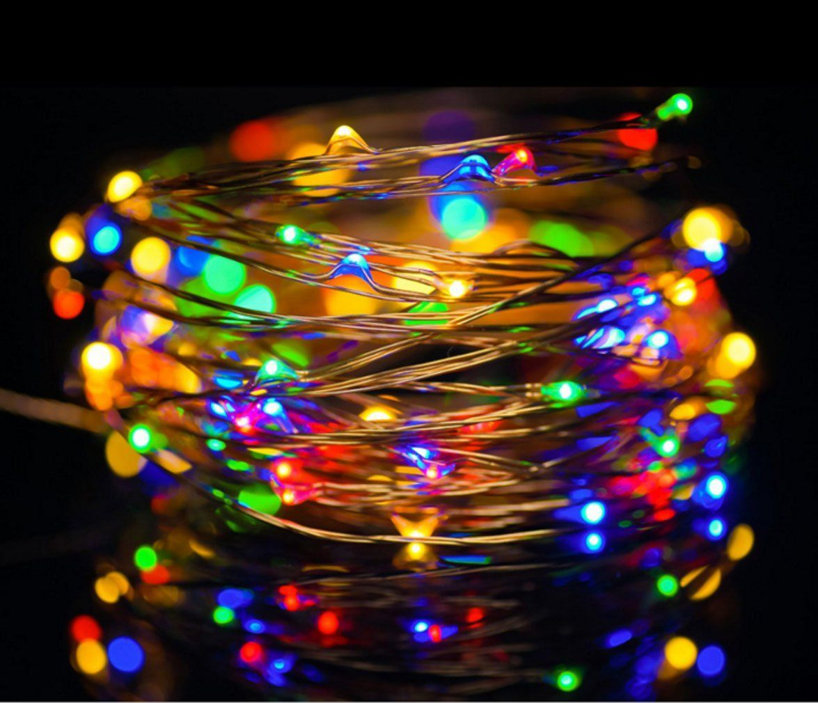 Prosense Usb Copper Wire Lights Fairy Strip 10m 33ft 100leds Waterproof Starry Da C Cor Rope Ligh Usb Christmas Lights Fairy Lights Decor Decorative Night Lights