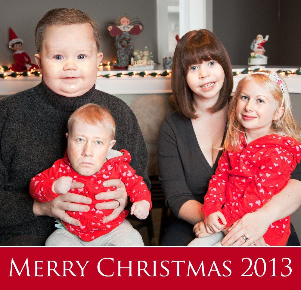 Wonderful Funny Family Christmas Cards Part - 6: Wife Wanted A Family Portrait For Christmas. This Is What She Got. (face · Funny  Holiday CardsFunny ...