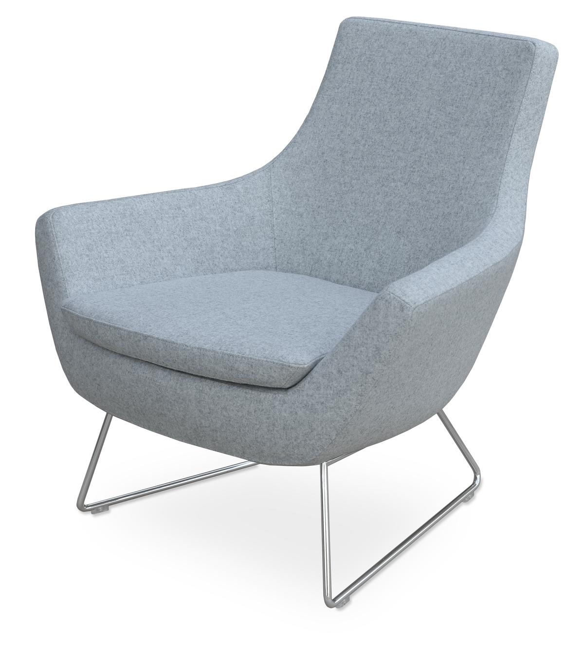 Rebecca & Wire Base- Silver Camira Wool | Rebecca Occasional Chairs ...