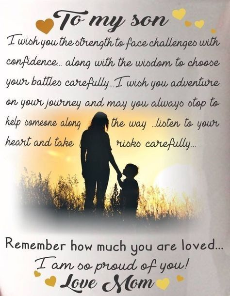 Letter Parenting Mother Son Quotes Son Birthday