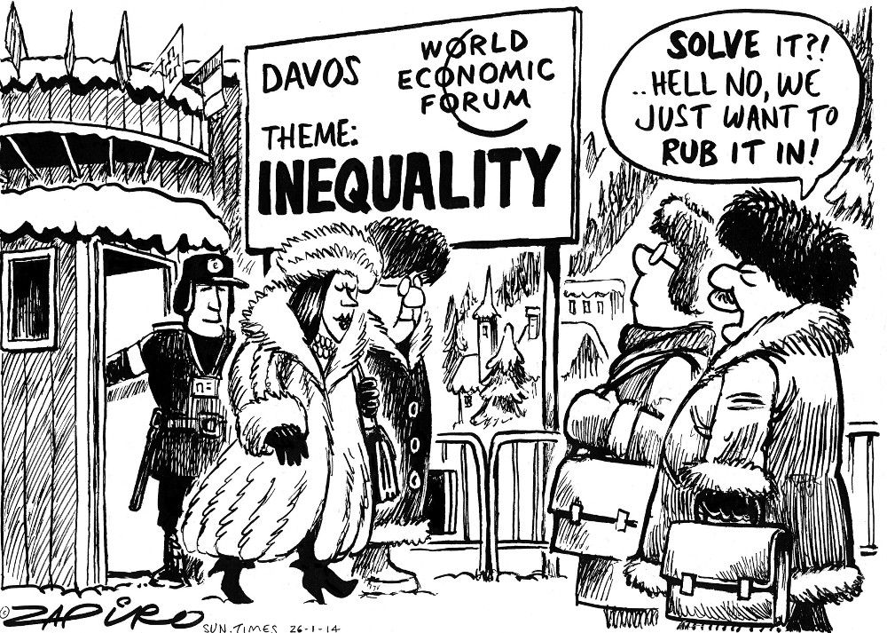 Davos World Economic Forum, Zapiro cartoon