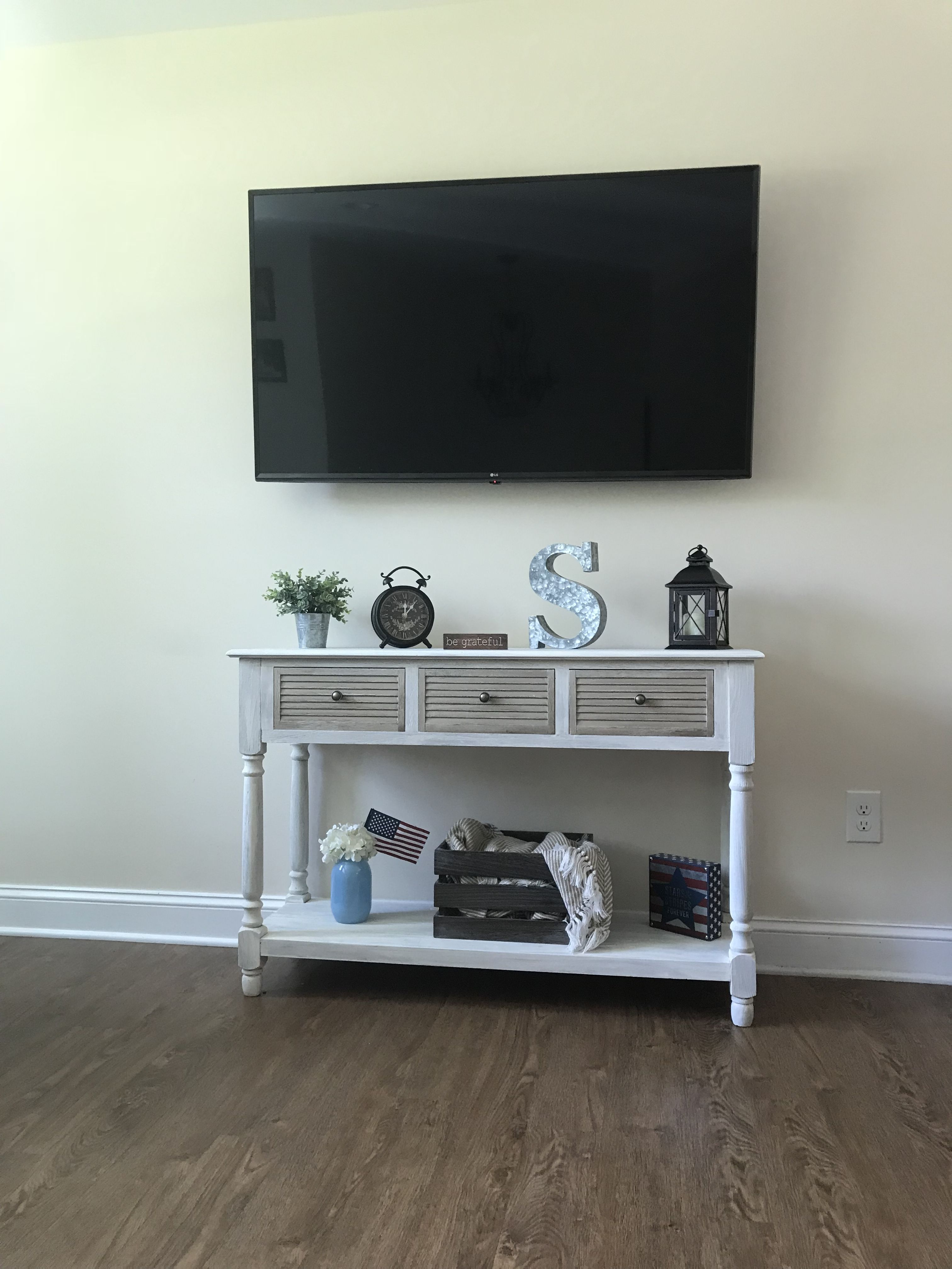 Console Table Wall Mounted Tv Farmhouse Decor In
