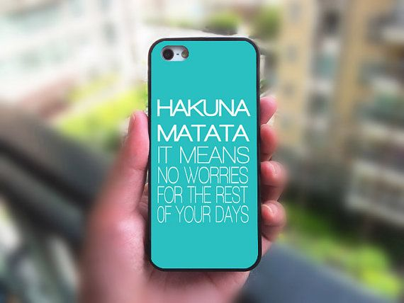 LAURA- iphone 5C case,Hakuna Matata,iphone 5S case,iphone 5