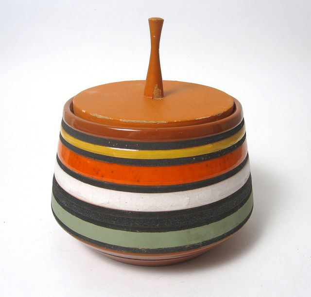 Ettore Sottsass, vessel with lid by Bitossi for Raymor .
