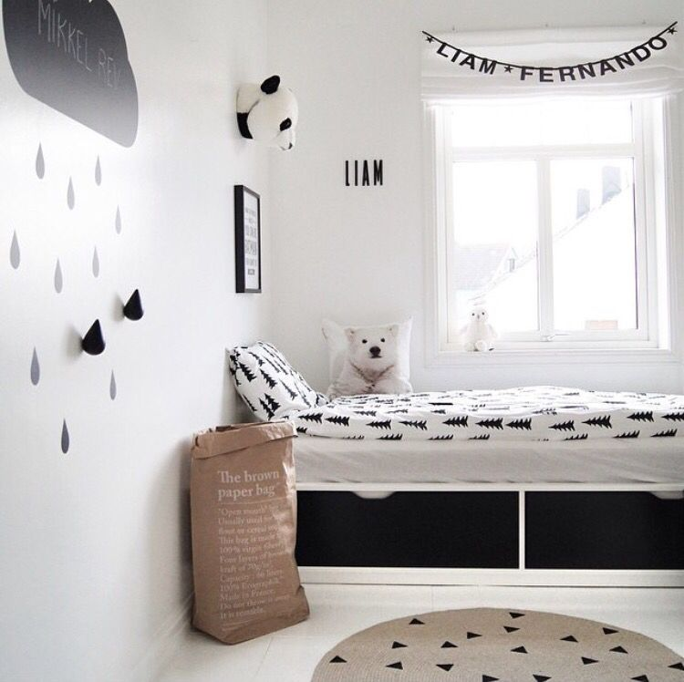 Black and white jollyroom noras zimmer kinderzimmer for Kinderzimmer ritter deko