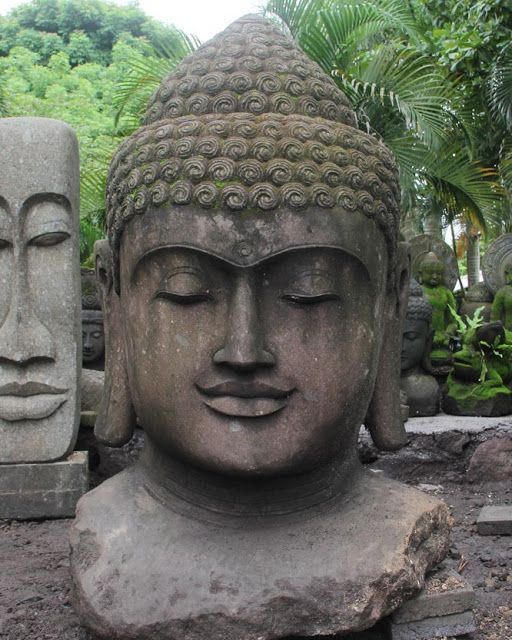 Large Buddha Head Fountain: Pin En Esculturas