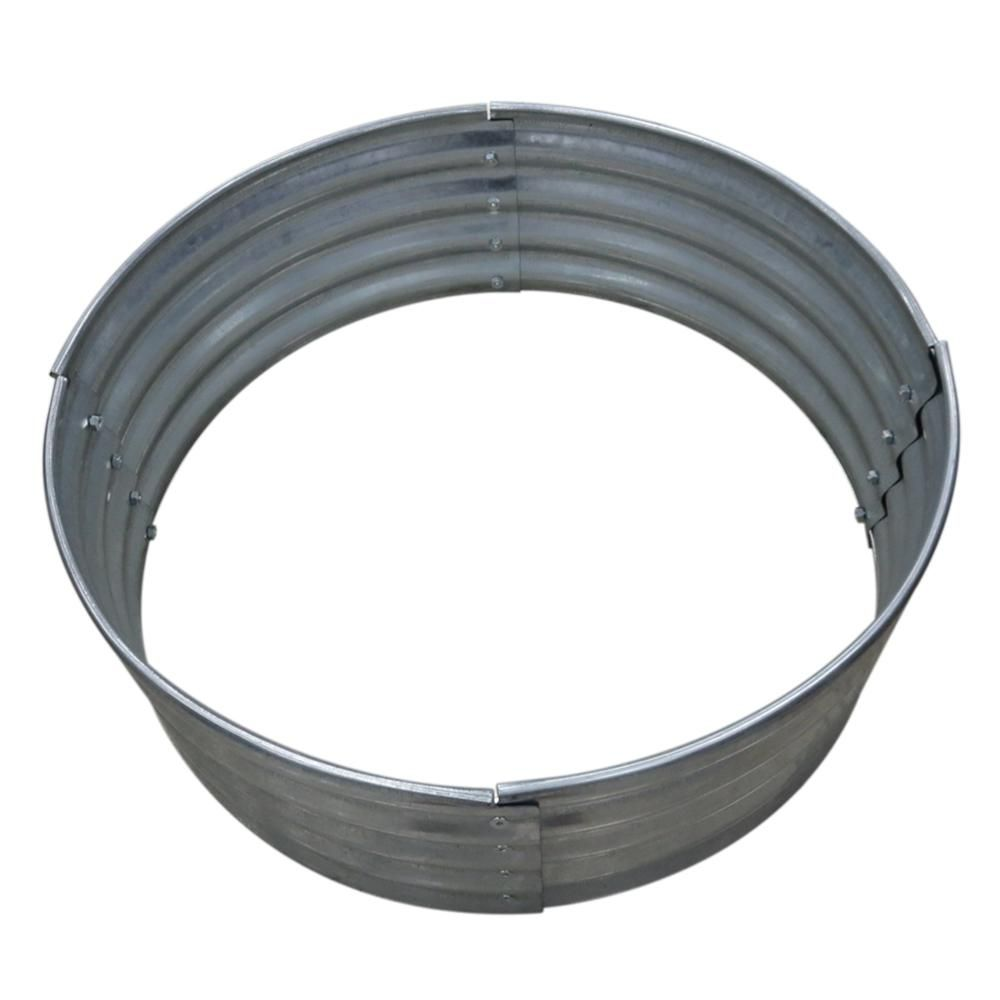 36 In Galvanized Round Fire Ring 97869vgdhd The Home Depot In 2020 Fire Ring Steel Fire Pit Ring Fire Pit Patio