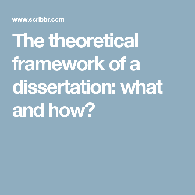 theoretical dissertation