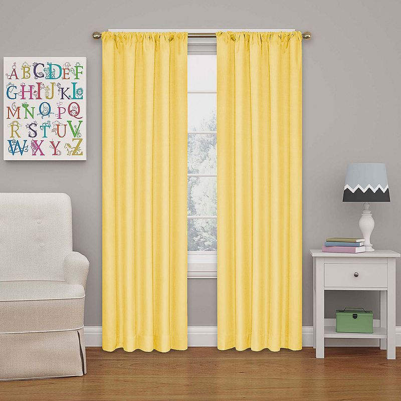 Eclipse MyScene Kendall Kids Thermaback Blackout Curtain Yellow