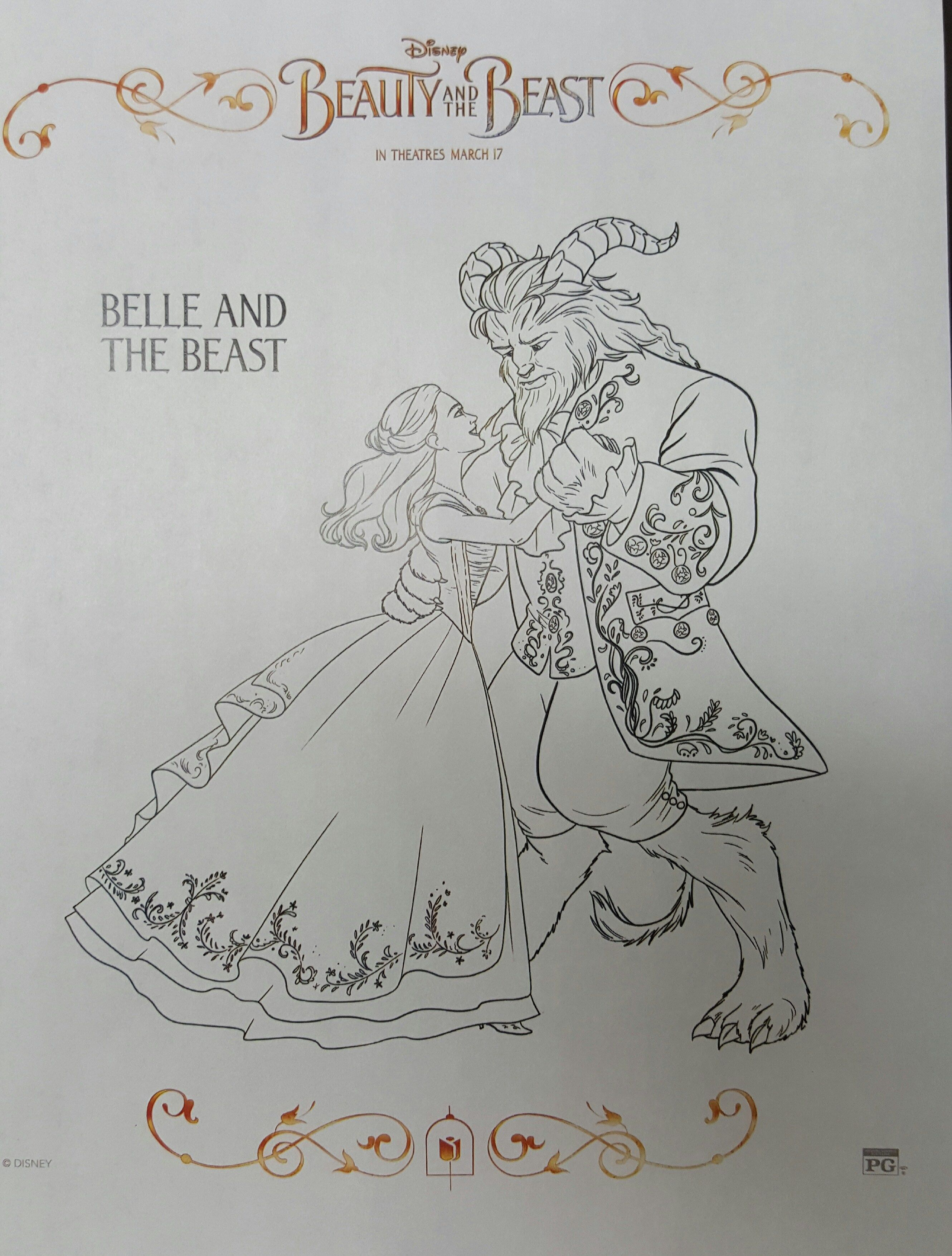 10 Free Printable Beauty And The Beast Coloring Sheets BeOurGuest BeautyandtheBeast