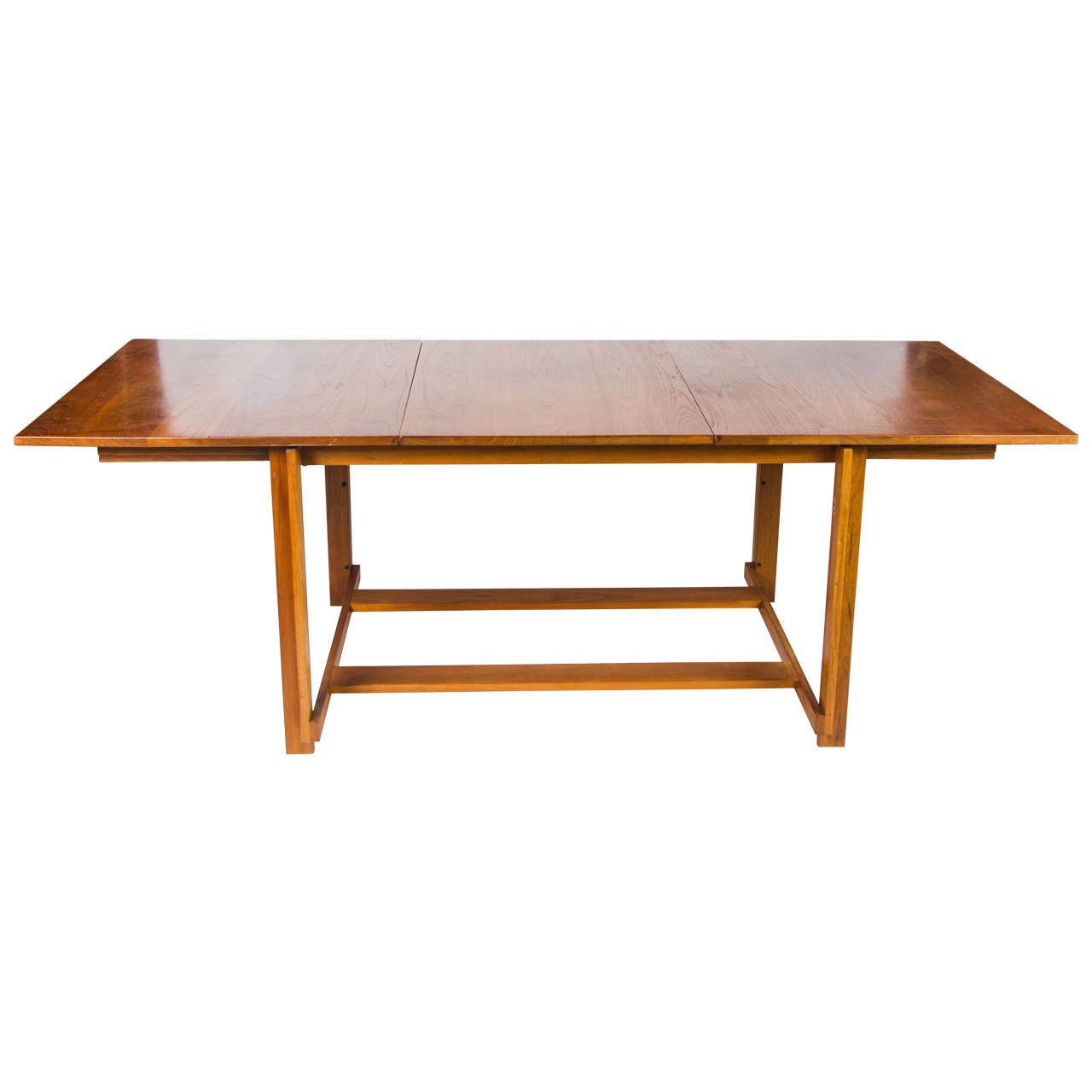An Unusual 1960s Dining Table By The Danish Manufacturers France U0026 Sons.  Beautifully Made In