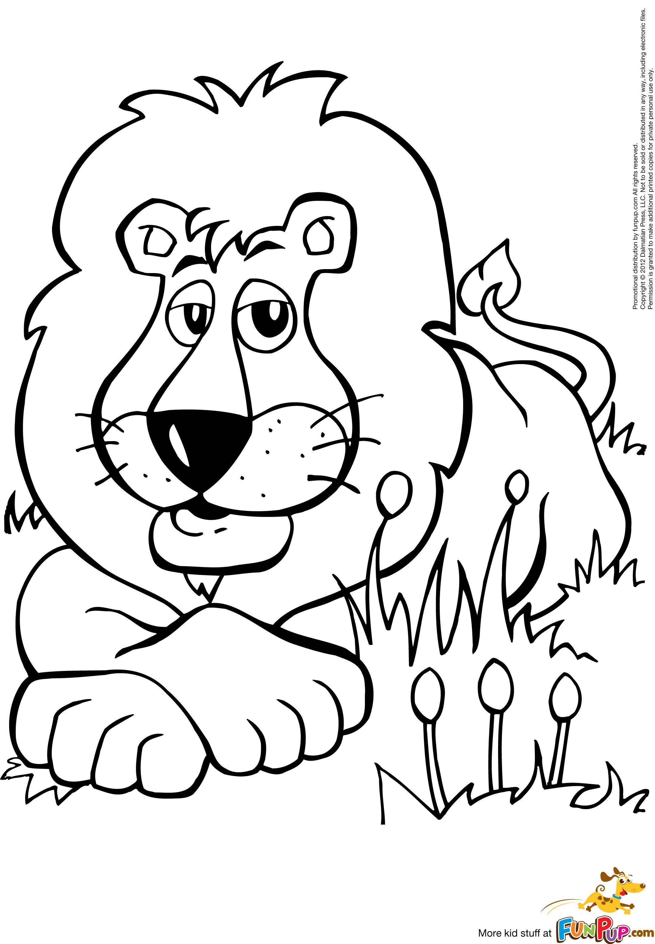 Lion 0 00 Kleurplaten Dieren Leeuw