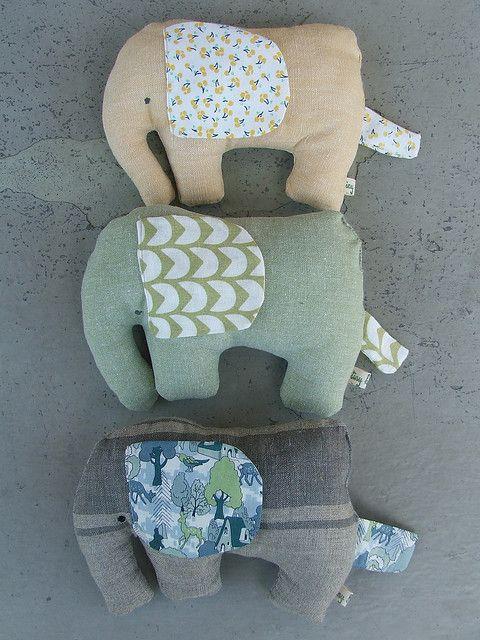 Fabric elephants