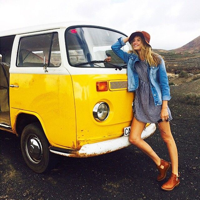 Road trippin' in a VW Bus…that's just how @romeestrijd rolls.  ☀️ #OwnTheSummer #regram