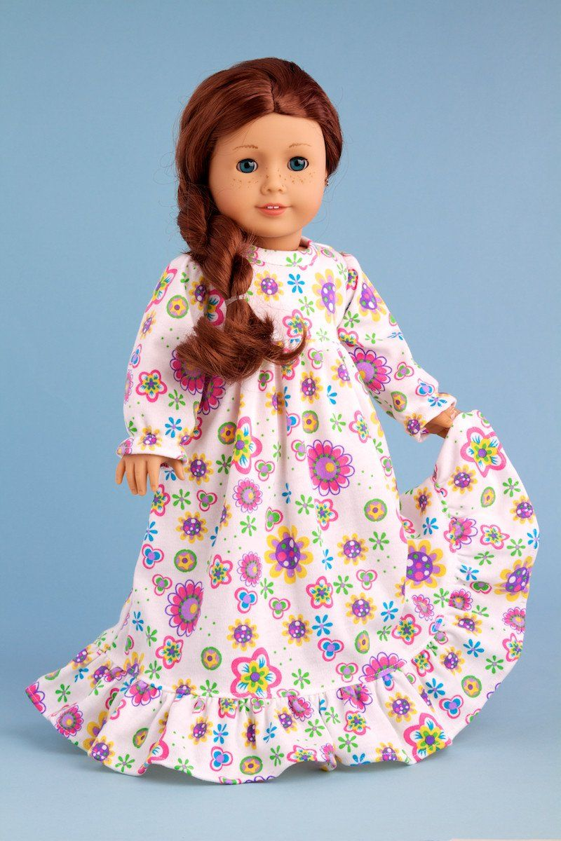 c892526d80e Good Night - Pajamas for 18 inch American Girl Doll - Nightgown –  Dreamworld Collections